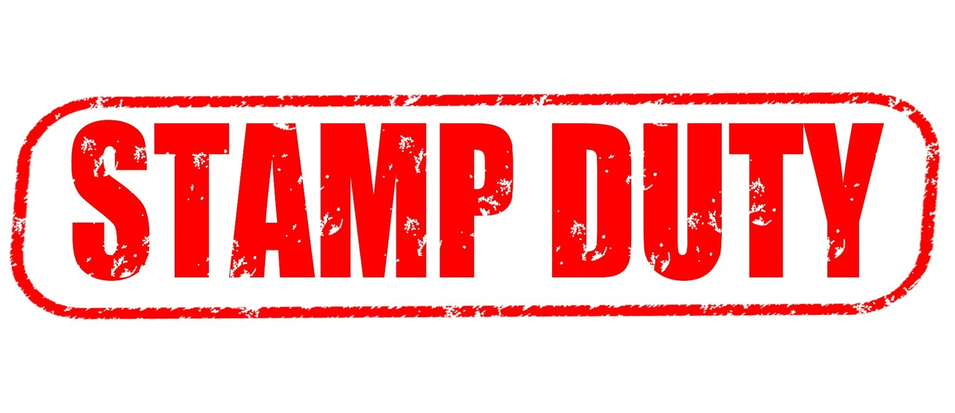Stamp Duty in red emboldened letters