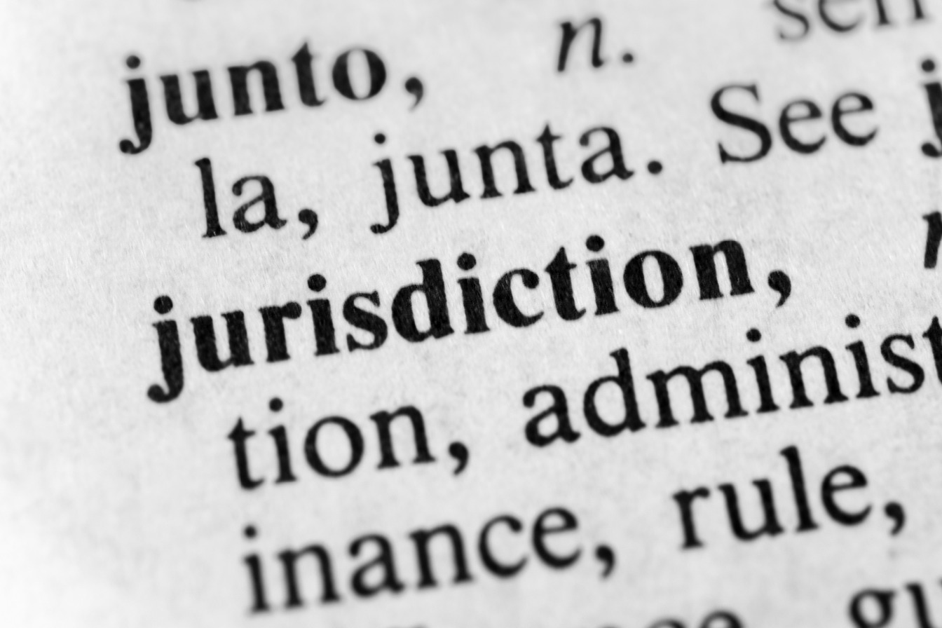 A snapshot of the word 'Jurisdiction'.