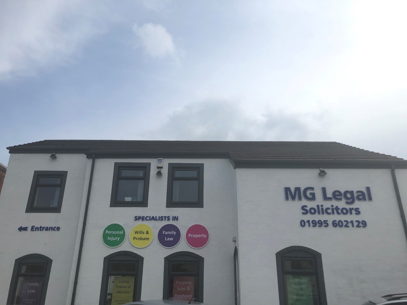 MG Legal's Garstang office.