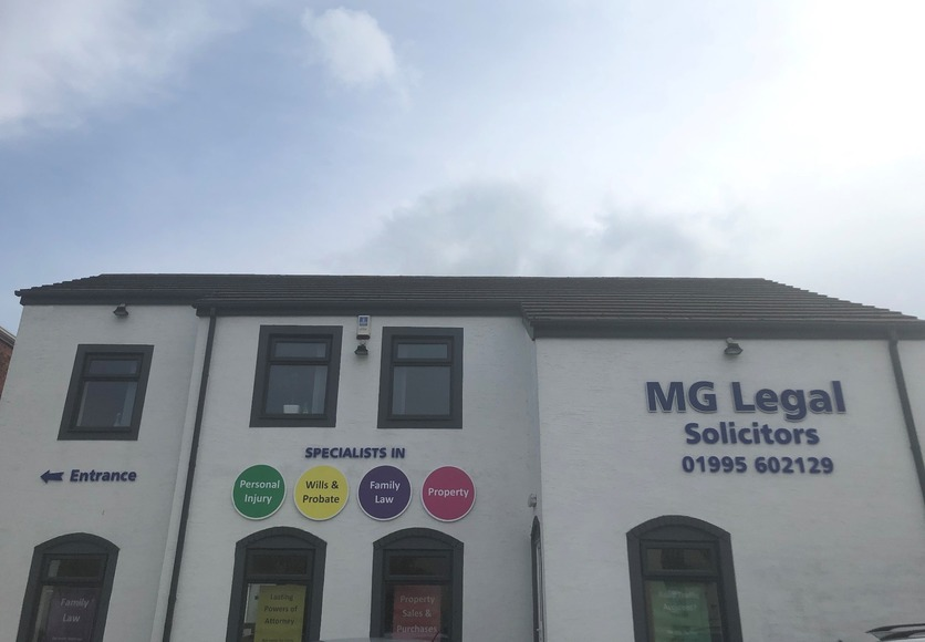 MG Legal's Garstang Office, located on Pringle Court.
